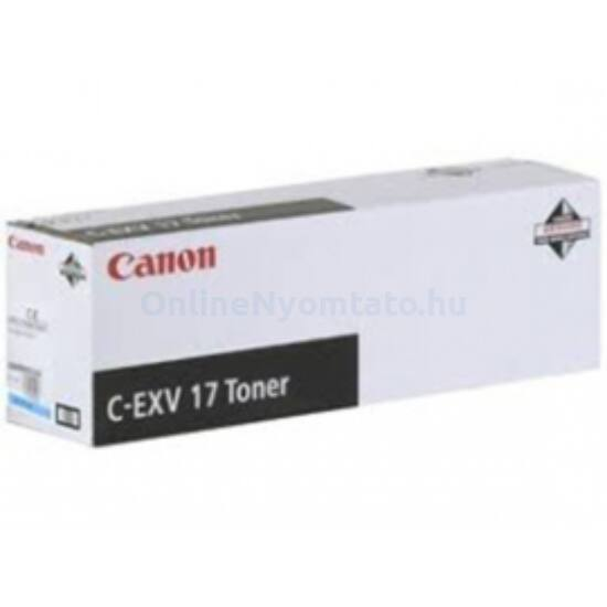 Canon C-EXV17 kék eredeti toner