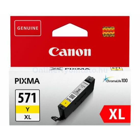 Canon CLI-571XL sárga eredeti tintapatron