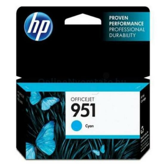 HP CN050AE No.951 kék eredeti tintapatron