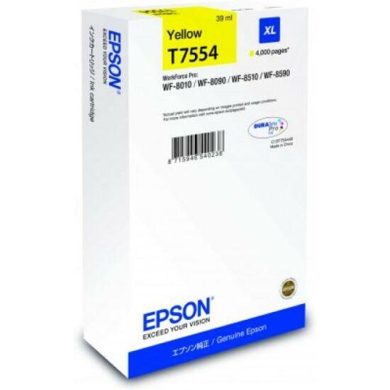 Epson T7554 sárga eredeti tintapatron