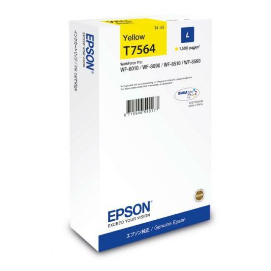 Epson T7564 sárga eredeti tintapatron