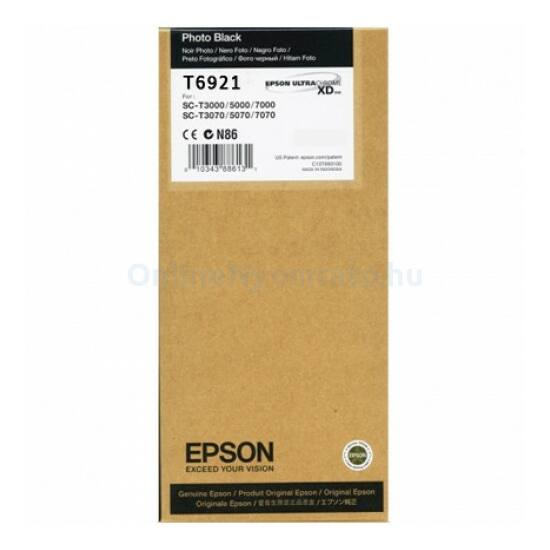 Epson T6921 fotó fekete eredeti tintapatron