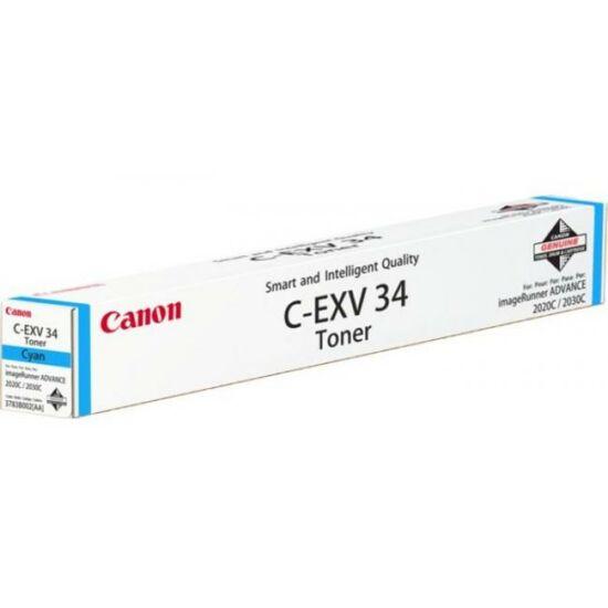 Canon C-EXV34 kék eredeti toner