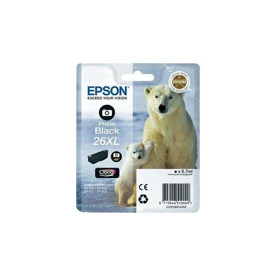 Epson T2631 fotó fekete eredeti tintapatron