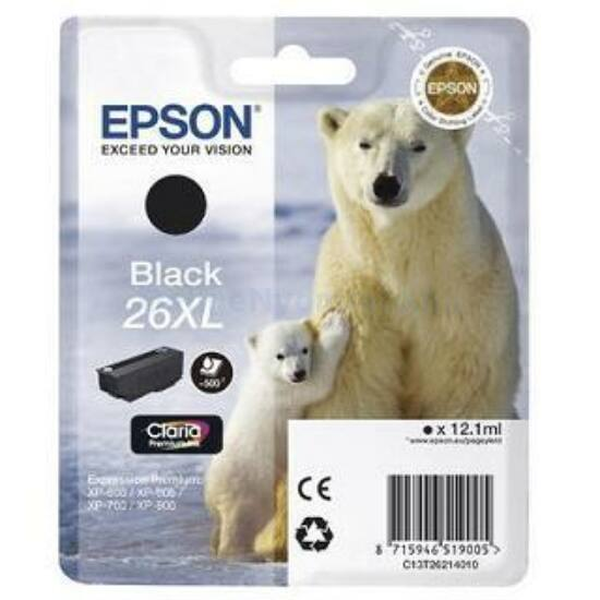 Epson T2621 fekete eredeti tintapatron
