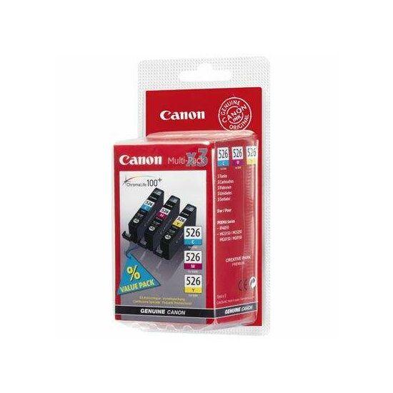 Canon CLI-526 színes eredeti tintapatron multipack (C,M,Y)