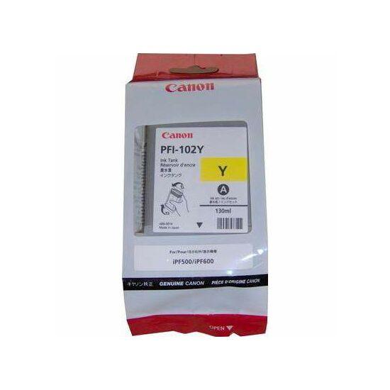 Canon PFI-102Y sárga eredeti tintapatron