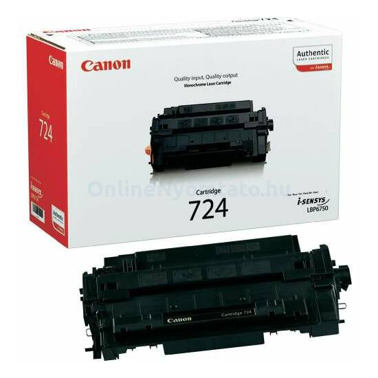 Canon CRG-724B fekete eredeti toner